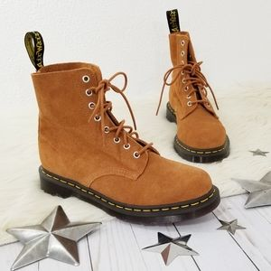 Dr. Martens 1460 Pascal brown Suede Combat Boots